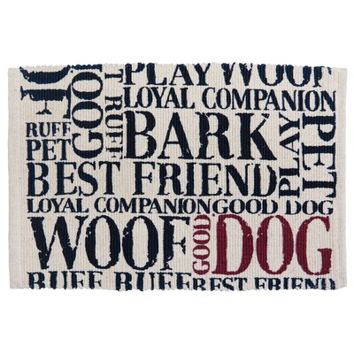 PB Paws & Co. Good Dog Cotton Pet Mat Color: Natural