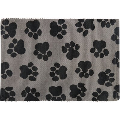 PB Paws & Co. World Paws Cotton Pet Mat Size: 19 W x 13 D, Color: Grey