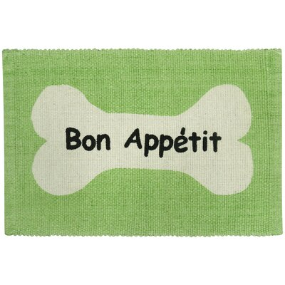 PB Paws & Co. Bone Appetit Cotton Pet Mat Color: Lime