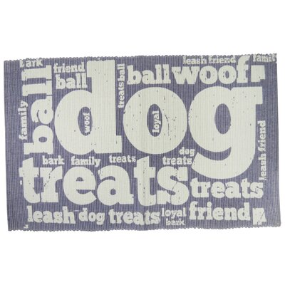 PB Paws & Co. Family Treats Cotton Pet Mat Size: 19 W x 13 D, Color: Plum