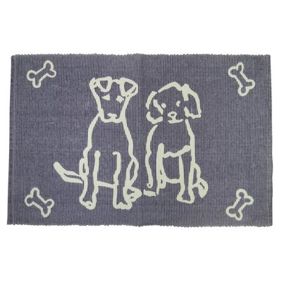 PB Paws & Co. Dog Friends Cotton Pet Mat Color: Plum, Size: 19 W x 13 D