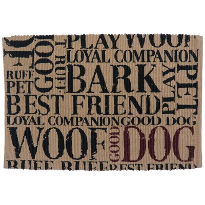 PB Paws & Co. Good Dog Cotton Pet Mat Color: Linen