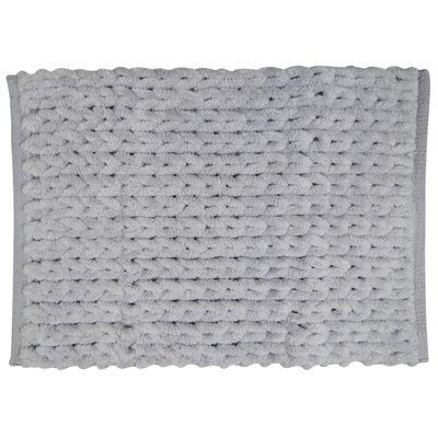 Silver Chenille Knit Bath Rug Size: 34 W x 21 L