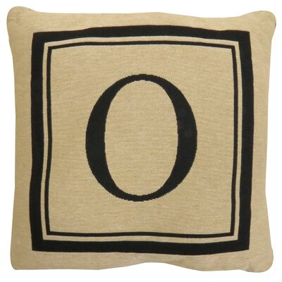 Vintage House Monogram Throw Pillow Letter: O