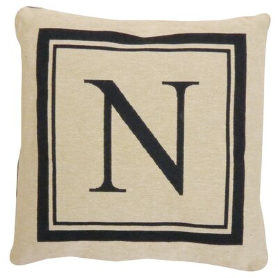 Vintage House Monogram Throw Pillow Letter: N
