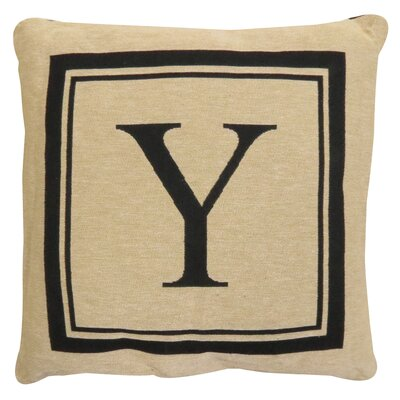 Vintage House Monogram Throw Pillow Letter: Y