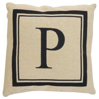 Vintage House Monogram Throw Pillow Letter: P