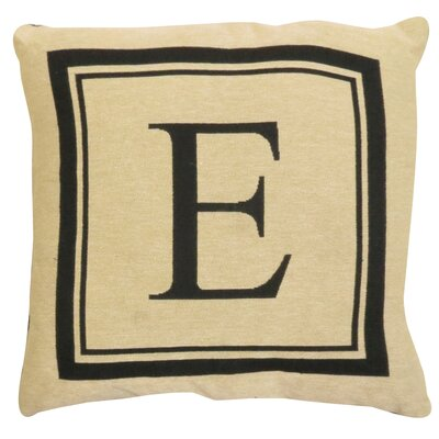 Vintage House Monogram Throw Pillow Letter: E