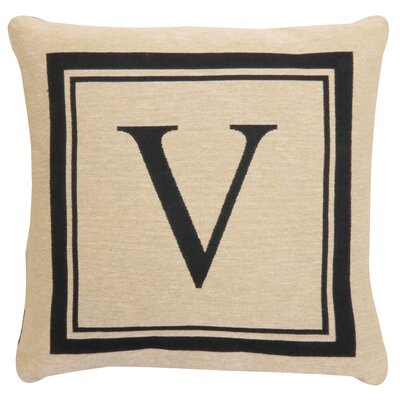 Vintage House Monogram Throw Pillow Letter: V