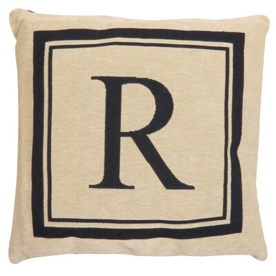 Vintage House Monogram Throw Pillow Letter: R