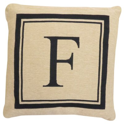 Vintage House Monogram Throw Pillow Letter: F