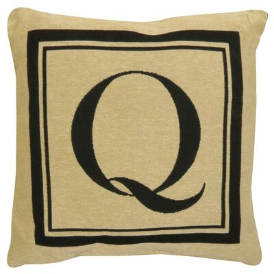 Vintage House Monogram Throw Pillow Letter: Q
