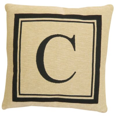 Vintage House Monogram Throw Pillow Letter: C