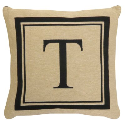 Vintage House Monogram Throw Pillow Letter: T