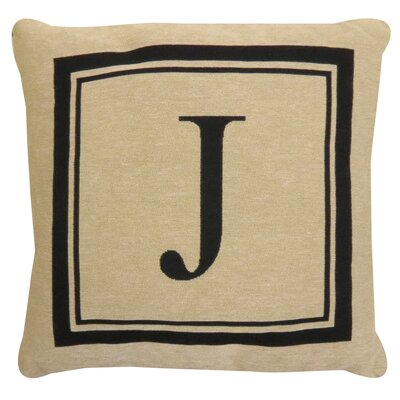 Vintage House Monogram Throw Pillow Letter: J