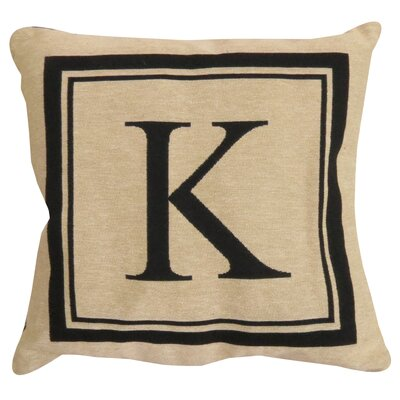 Vintage House Monogram Throw Pillow Letter: K
