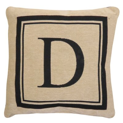 Vintage House Monogram Throw Pillow Letter: D