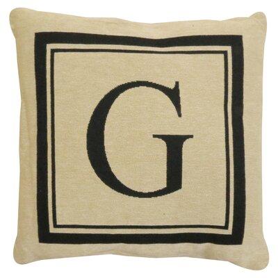Vintage House Monogram Throw Pillow Letter: G
