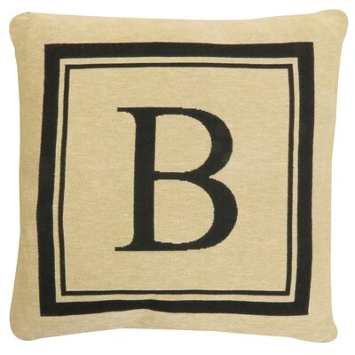 Vintage House Monogram Throw Pillow Letter: B