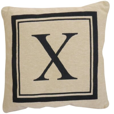 Vintage House Monogram Throw Pillow Letter: X