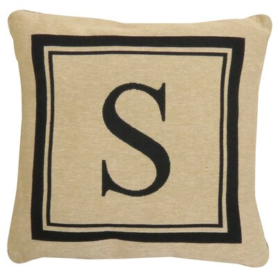 Vintage House Monogram Throw Pillow Letter: S