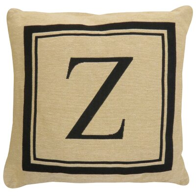 Vintage House Monogram Throw Pillow Letter: Z