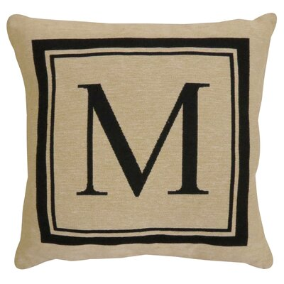 Vintage House Monogram Throw Pillow Letter: M