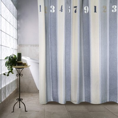 Metro Farmhouse Cotton Numbers Shower Curtain