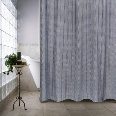 Metro Farmhouse Cotton Eyelet Chain Shower Curtain Color: Chambray