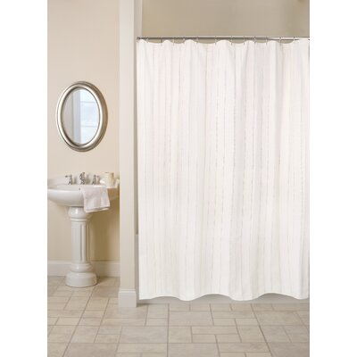 Metro Farmhouse Cotton Eyelet Chain Shower Curtain Color: Natural