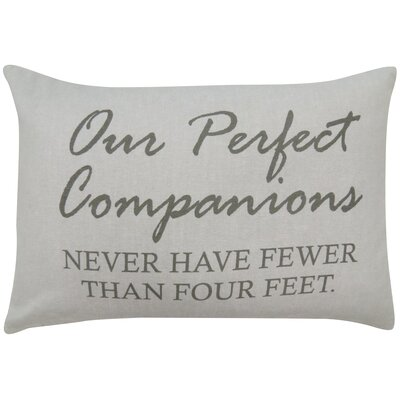 Perfect Companions Printed Decorative Cotton Lumbar Pillow
