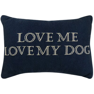 Vintage House Love Me, Love My Dog Tapestry Decorative Lumbar Pillow