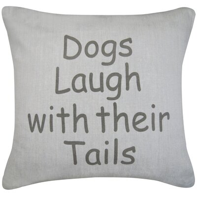 Dogs Laugh Printed Decorative Cotton Throw Pillow