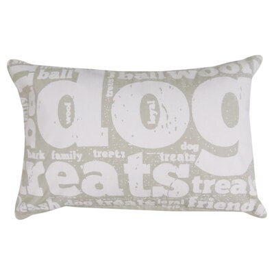 Family Treats Printed Decorative Cotton Lumbar Pillow