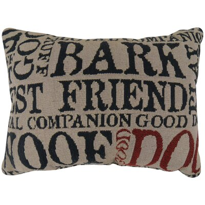 Vintage House Good Dog Tapestry Decorative Lumbar Pillow
