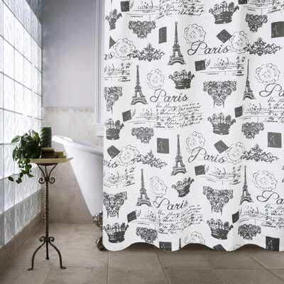 Metro Farmhouse Cotton Paris Travels Shower Curtain