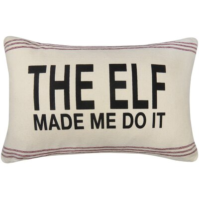 Vintage House Elf Made Me Printed Throw Pillow