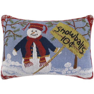 Vintage House Snowballs Tapestry Lumbar Pillow
