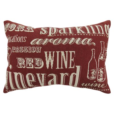 Vintage House Sparkling Tapestry Lumbar Pillow Color: Cinnabar
