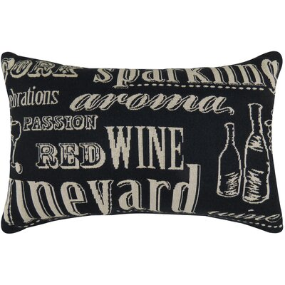 Vintage House Sparkling Tapestry Lumbar Pillow Color: Black
