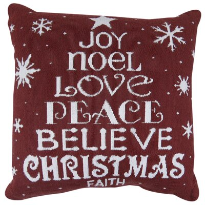 Vintage House Christmas Faith Tapestry Throw Pillow
