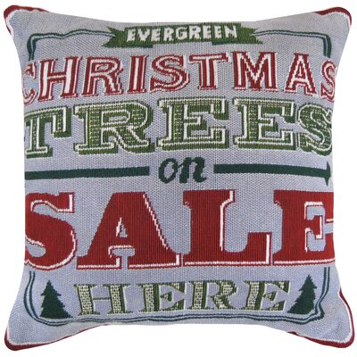 Vintage House Evergreen Tapestry Throw Pillow