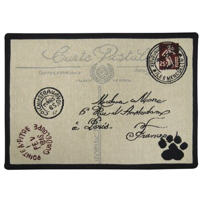 Postale Paw Tapestry Pet Mat