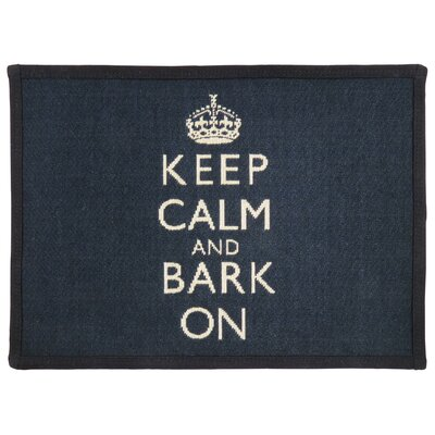 Keep Calm and Bark Tapestry Pet Mat Color: Black