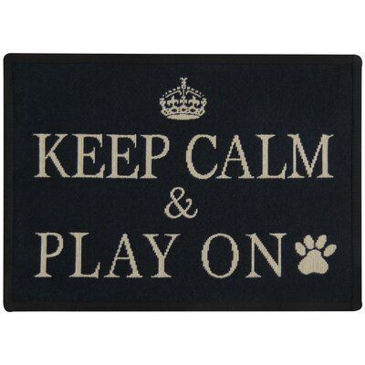 Morey Keep Calm and Play Tapestry Pet Mat