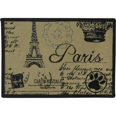 Paris Collage Tapestry Pet Mat Color: Linen