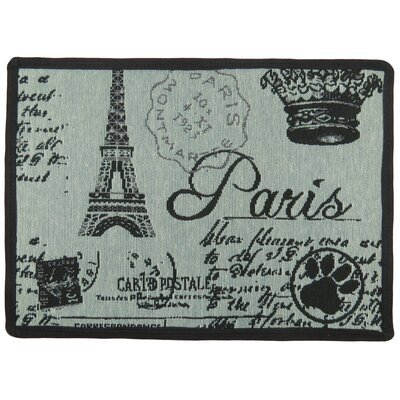 Paris Collage Tapestry Pet Mat Color: Spearmint