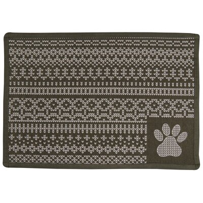 Knit Paw Tapestry Pet Mat Color: Taupe