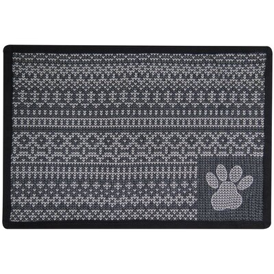 Knit Paw Tapestry Pet Mat Color: Grey
