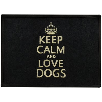Keep Calm and Love Dog Tapestry Pet Mat